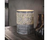 Vintage stoere tafellamp Pisa Ø20 cm grijs