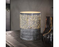Vintage - Tafellamp - Grijs - 20 cm - Pisa