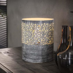 Vintage tafellamp Pisa Ø20cm grijs