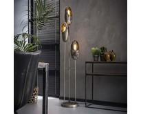 Moderne - Vloerlamp - Oud zilver - 3 lichts - Clump