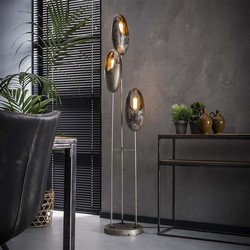 Vloerlamp Clump Oud zilver 3-lichts