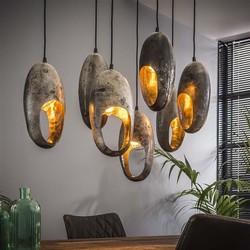 Hanglamp Clump 7-lichts oud zilver