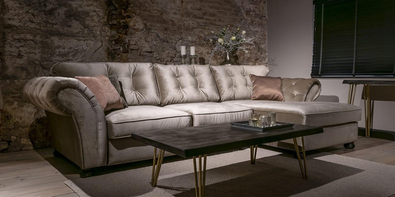 Landelijke Loungebank Landelijke Stoere Loungebank Montreal Urban Sofa