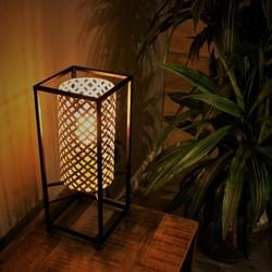 Oosterse Tafellamp Petrolio  37cm 1-lichts zwart/goud-wit