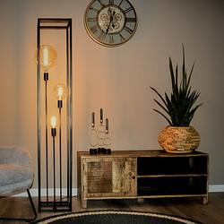 Vloerlamp Palco 3-lichts Zwart
