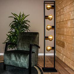 Vloerlamp Distesa 5-lichts Zwart