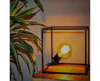 Modern industriële tafellamp Angolo 1-lichts zwart