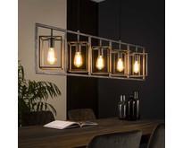 Industriële - Hanglamp - Oud zilver - 5 lichts - Cubic