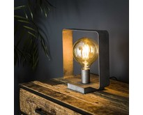 Industriële  tafellamp Trip 1-lichts oud zilver