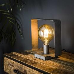 Tafellamp Trip 1-lichts Oud zilver