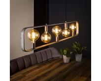 Industriële - Hanglamp - Oud zilver - 5 lichts - Trip