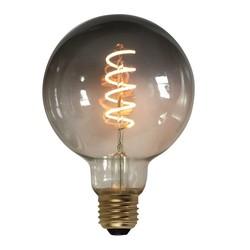 LED Ø9,5 cm bol smoke 7W spiraal 3 standen 2200K lichtbron