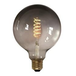 LED Ø12,5 cm bol smoke 7W spiraal 3 standen 2200K lichtbron