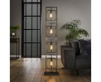 Industriële - Vloerlamp - Oud zilver - 4 lichts - Cubic