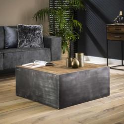 Stoere salontafel Mars 80 x 80 cm | Robuust hardhout
