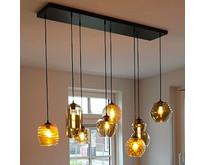 Moderne - Hanglamp - Zwart - 8 lichts - Quinto