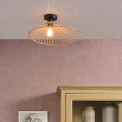 Plafondlamp Bromo asymmetrisch medium bamboe naturel