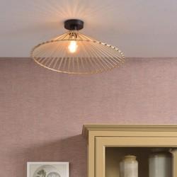 Plafondlamp Bromo Asymetrisch large Naturel