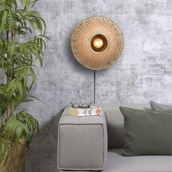 Wandlamp Kalimantan Small bamboe Naturel