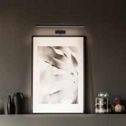 Moderne schilderij wandlamp Litho LED zwart