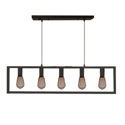 Hanglamp Distesa 5-lichts Zwart