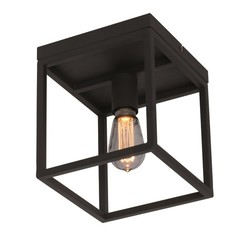 Plafondlamp Novanta Vierkant Zwart