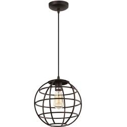 Hanglamp Pianeta 1-lichts Bruin