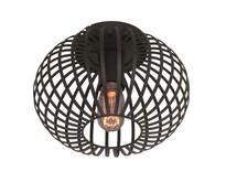 Moderne - Plafondlamp - Zwart - 25 cm - Aglio