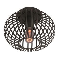 Plafondlamp Aglio Ø25 cm Zwart