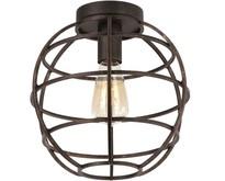Industriële - Plafondlamp - Antiek goud - Open structuur - Pianeta