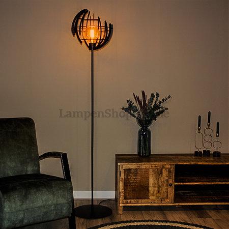 Vind hier de stalen vloerlamp die het best in het interieur past