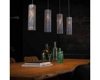 Industriële - Hanglamp - Zwart / bruin - 4 lichts - Forato