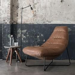 Must Living fauteuil Line Cognac zwart frame
