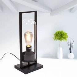 Tafellamp Tiburio 43 cm Zwart Glas