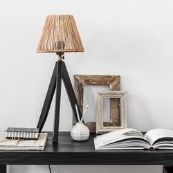 Tafellamp Montecristo zwart incl. kap