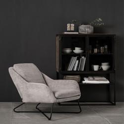 Lounge chair Dream velvet chenille Taupe
