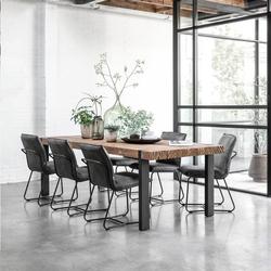 Eettafel Beam 300 x 100 cm gerecycled teakhout