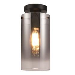 Plafondlamp Ventotto Glas Zwart/Smoke