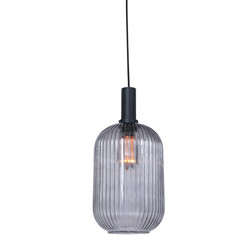 Hanglamp Danske 1-lichts 20cm smoke glas