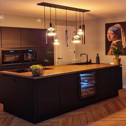 Hanglamp Riva  7-lichts 150cm zwart