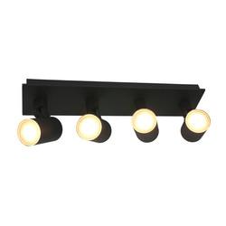 Opbouwspot Points Noirs 4-lichts IP44 Zwart