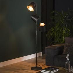 Vloerlamp Tigris 3-lichts  Ø 18cm kap, charcoal