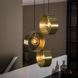 Hanglamp Golden Eye 3-lichts getrapt goud