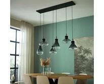 Moderne - Hanglamp - Zwart - 6 lichts - Flere