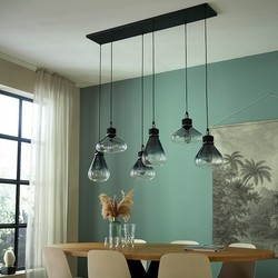 Hanglamp Flere 6-lichts Zwart