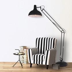 Verstelbare Vloerlamp Office XXL Zwart