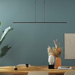 Hanglamp Zelena 122 cm Zwart