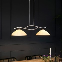 Hanglamp Capri 2-lichts Staal