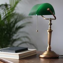 Bankierslamp Ancilla groene glazenkap