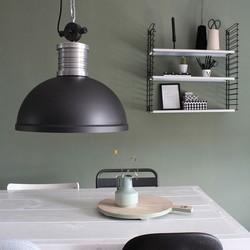 Hanglamp Brooklyn 1-lichts Zwart